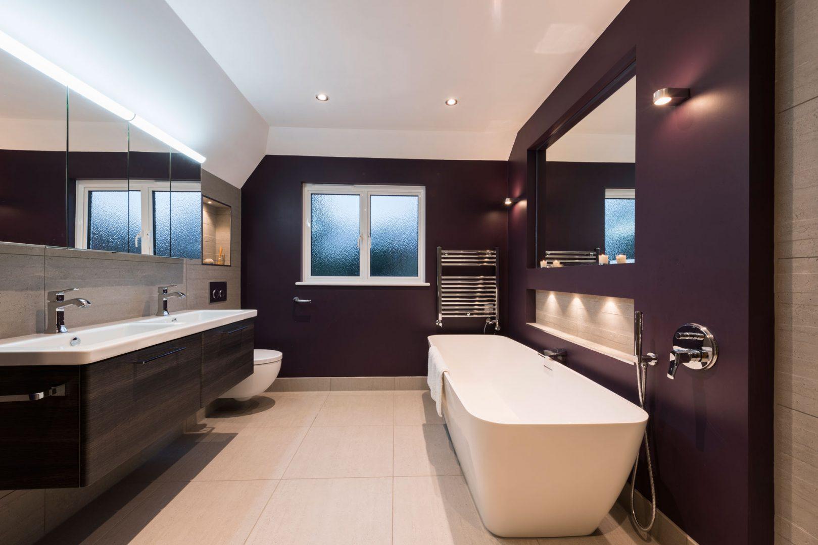Family bathroom with plenty of storage. Bathroom by Bathroom Eleven.