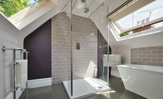 en-suite in a loft by Amazing Space Lofts